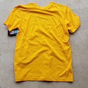 867f8ae8d1271 Nike Shirts | Mens Golden Yellow Short Sleeve Shirt | Poshmark
